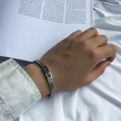 남자 팔찌 써지컬 스틸 패션 레이어드 Suit bracelet