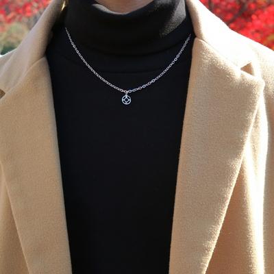 남자 목걸이 작은 코인 Too Young To  necklace