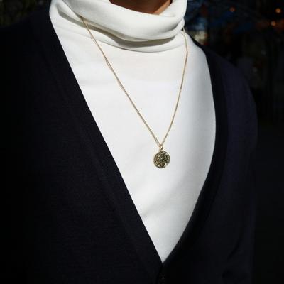 남자 목걸이 골드 체인  fantasy coin necklace