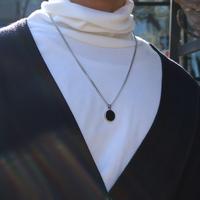 남자 목걸이 블랙 코인 simple 16. necklace