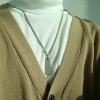 남자 사각 스틱 목걸이 white knuckle necklace