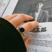 남자 반지 블랙 링 펜던트 black pendant ring