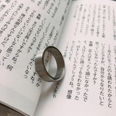 남자 반지 실버 심플 mistress uncurve ring