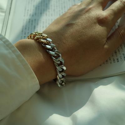 남자 골드 실버 팔찌 투톤 Killing Me Softly bracelet