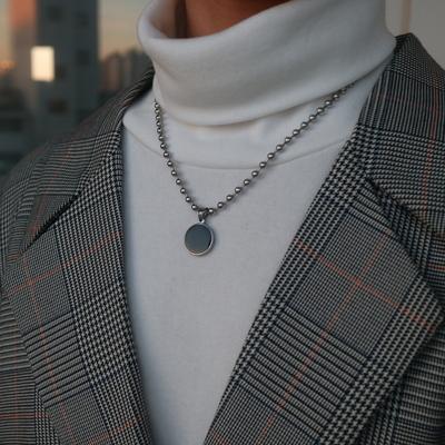 남자 목걸이 구슬 동전 남녀공용