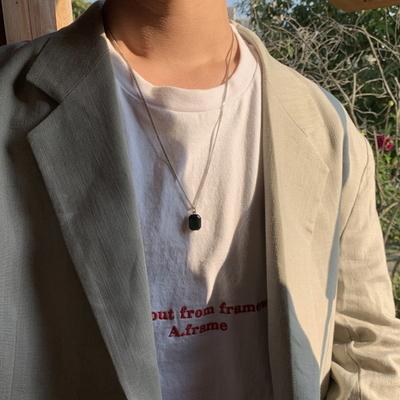 남자 에메랄드 목걸이 자수정 emerald