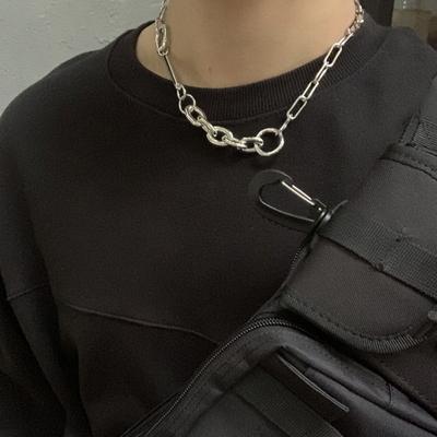 남자 힙합 스트릿 패션 볼드 체인 목걸이 Grating