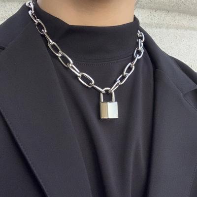 남자 자물쇠 목걸이 펜던트 학생 Lock B