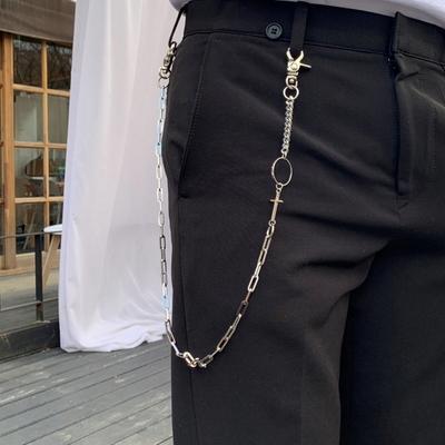 남자 바지체인 써클 십자가 써지컬 cross trouser
