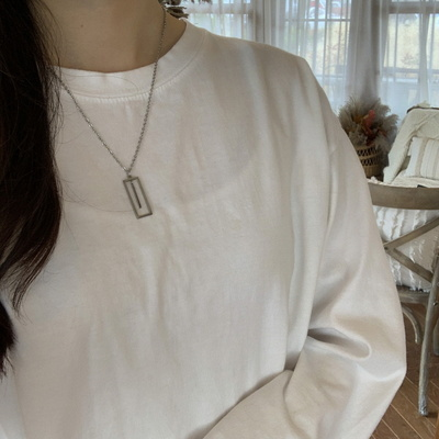 여자 목걸이 사각 클립 펜던트 frame