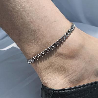 남자 발찌 체인 써지컬스틸 emergency anklet