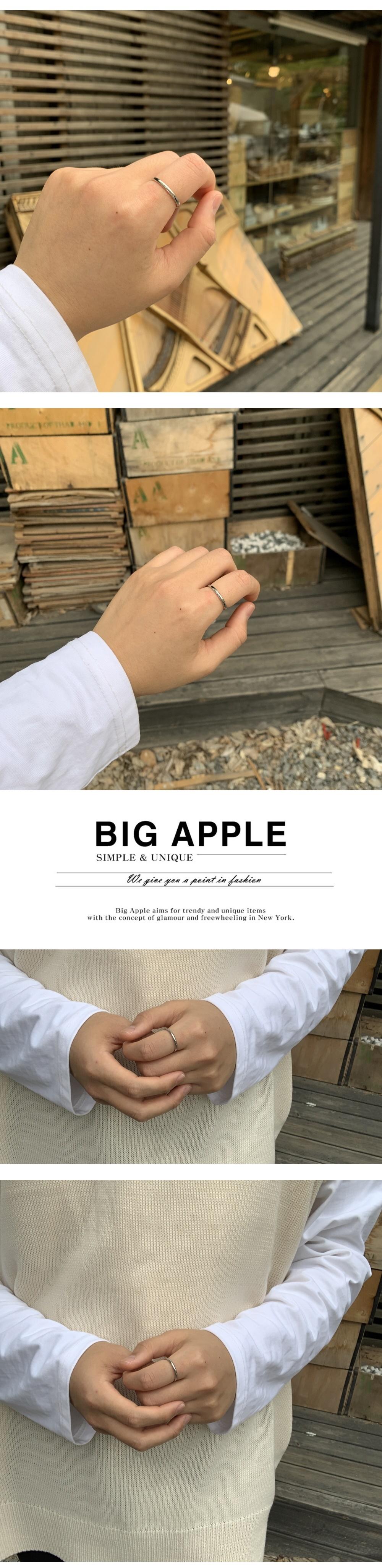 남자 민자 반지 써지컬스틸 실버 plane ring - 빅애플, 17,500원, 남성주얼리, 반지