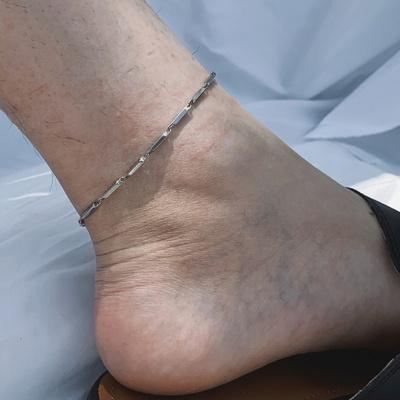 남자 실 발찌 써지컬스틸 체인 philly style anklet