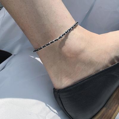 남자 여자 실 발찌 매듭 커플 thread anklet