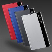 갤럭시S21 FE/SM-G990 레더핏 뷰케이스/간편하고 편리하게