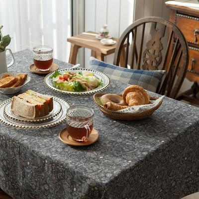 레지나 네이비 식탁보 테이블보 2인용 135x135cm