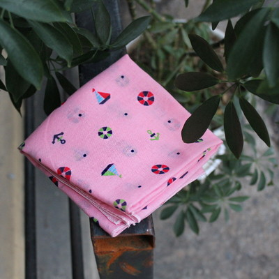 Petit Scarf-Hankie (스카프-손수건) - 핑크유람선