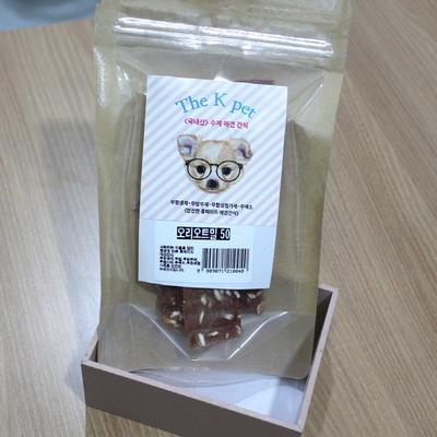 (국산 수제간식) 오리 오트밀 50g