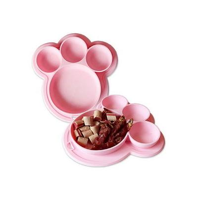 (밀림방지) 실리콘 식기 Pink