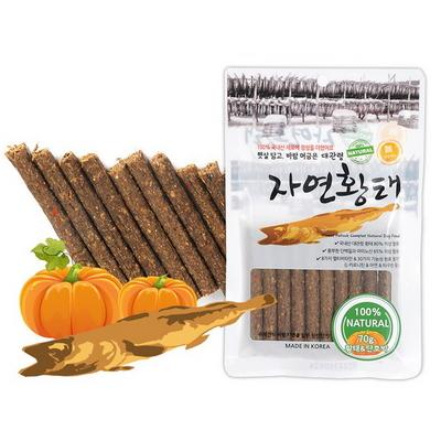 국내산 대관령 자연황태 단호박 스틱 70g - d