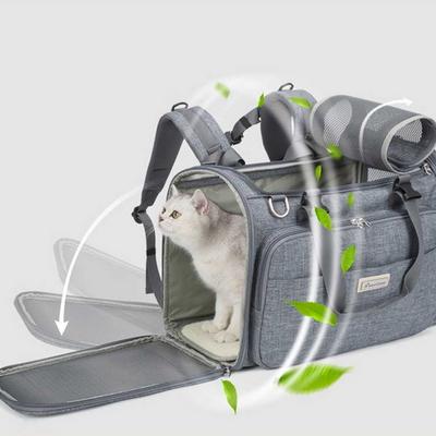 트루러브 TLX2971 강아지 n 고양이 캐리어 이동가방 (그레이)
