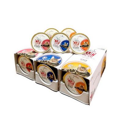 컵밥 고양이 그레인프리 사료 닭가슴살 도미 6p 2개
