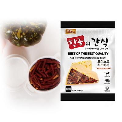 bb.q 한줌의 간식 모이스트  치즈 버거 (100g) x10
