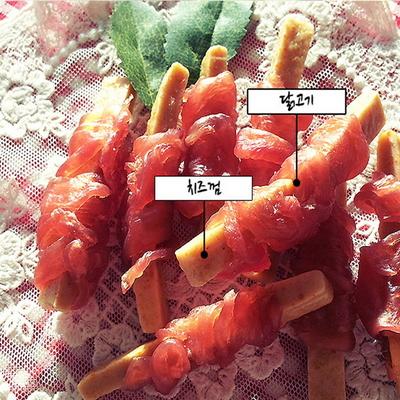 아침애 수제간식 (치즈껌_닭고기) 80g - pt