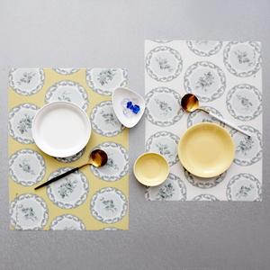 디자인 코팅 사각 테이블매트 프렌치플레이트 패턴