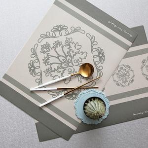 디자인 코팅 사각 테이블매트 프렌치라인
