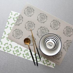 디자인 코팅 사각 테이블매트 프렌치패턴