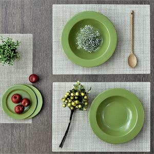 우븐패브릭 테이블 식탁 매트 베이지