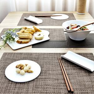 우븐패브릭 테이블 식탁 매트 모카브라운