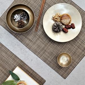우븐패브릭 테이블 식탁 매트 골드브라운