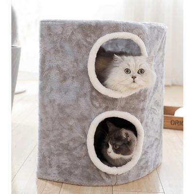 고양이 집 숨숨 방석 쿠션 더블 하우스