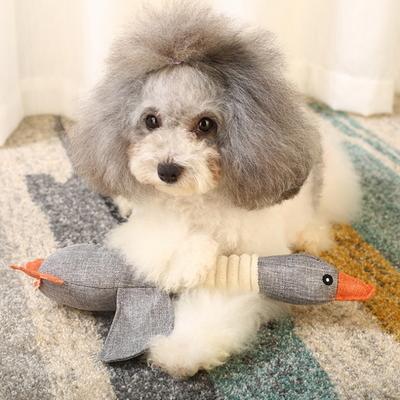 강아지 토이 터그 놀이 실타래 치석제거 오리 장난감
