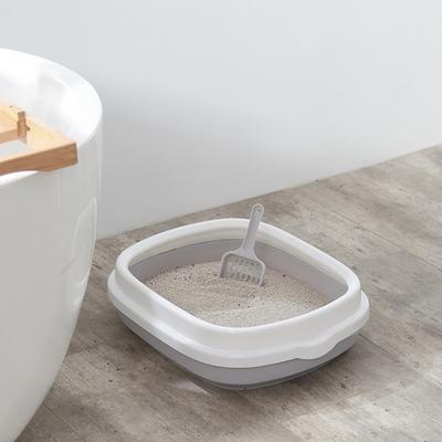 고양이 배변 용품 대형 오픈형 평판형 화장실