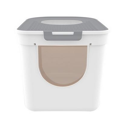 고양이 배변 용품 대형 하우스형 모래 사막화 방지 큐브 화장실