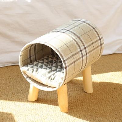 고양이 집 숨숨 방석 장난감 쿠션 체크 터널 하우스