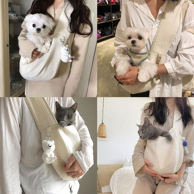 강아지 고양이 산책 이동가방 이동장 가방 슬링백