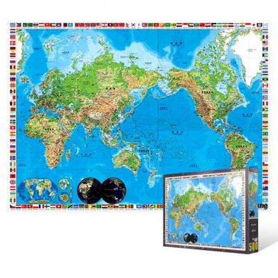 500피스 직소퍼즐 - 세계 지도
