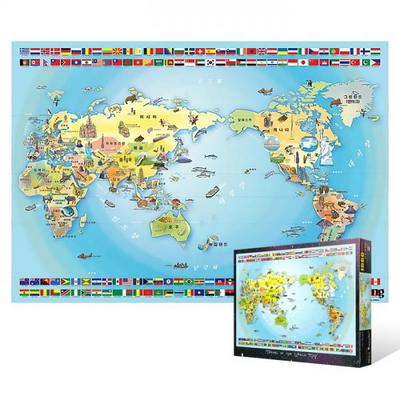 1000피스 직소퍼즐 - 세계 여행지도