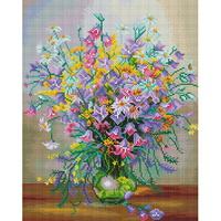 봄꽃 화병 (캔버스형) 보석십자수 40x50