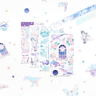 마넷 스티커 - 마넷 컷팅스티커 (달빛 고래)