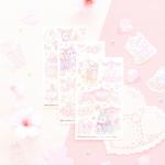 마넷 스티커 - 마넷 컷팅스티커 (벚꽃밤비)