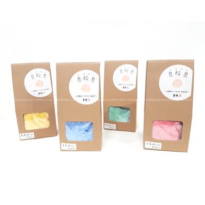 한국화 물감 길상 호분 분채 6색세트 (레드)