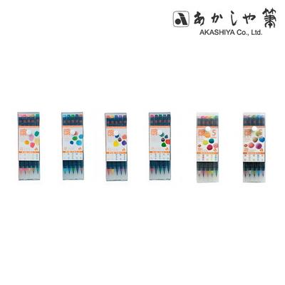 아카시야 컬러붓펜 수채모필 (5색세트)염