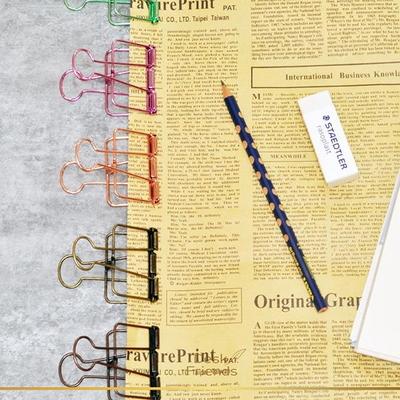 바인더 디자인클립 사무용 디자인클립 색깔클립 찝게