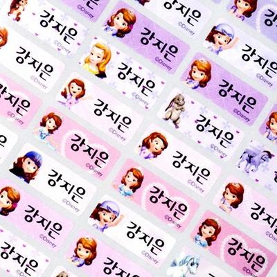 소형 디즈니소피아 펄(132pcs)네임스티커 방수 스티커 라벨지