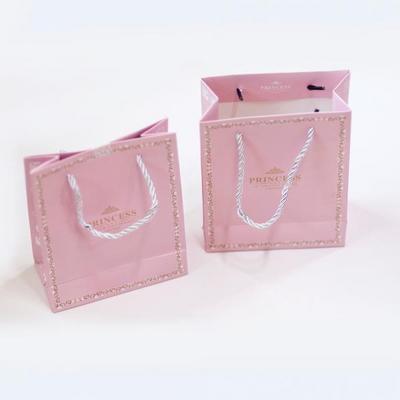 선물용 핑크 공주 종이가방